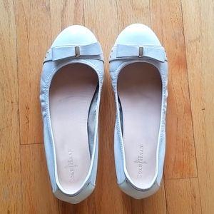 Cole Haan white ballet flats